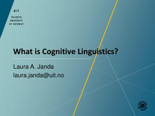 What  is  Cognitive Linguistics ?