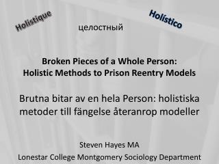 Steven Hayes MA Lonestar College Montgomery Sociology Department