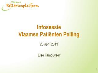 Infosessie  Vlaamse Patiënten Peiling