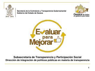 Subsecretaría de Transparencia y Participación Social