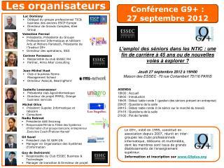 Conférence G9+ : 27 septembre 2012