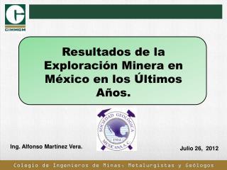 Colegio de Ingenieros de Minas, Metalurgistas y Geólogos de México, A.C.