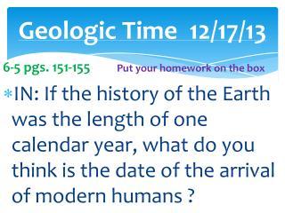 Geologic Time12/17/13