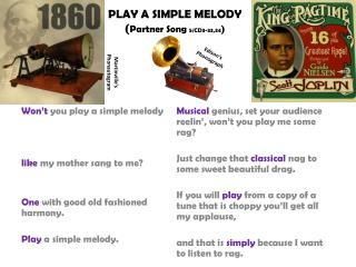 PLAY A SIMPLE MELODY ( Partner Song  5/CD3-33,34 )