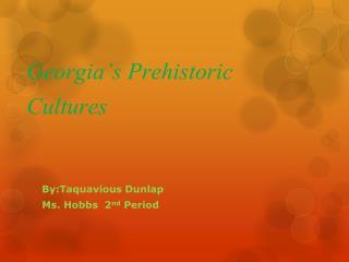 Georgia's Prehistoric Cultures