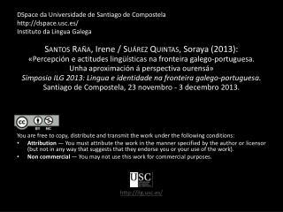 DSpace  da Universidade de Santiago de  Compostela http://dspace.usc.es/