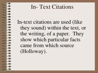 In- Text  Citations