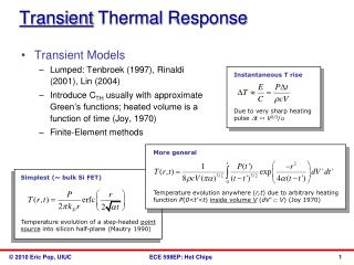 Transient  Thermal  Response