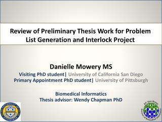Danielle Mowery MS