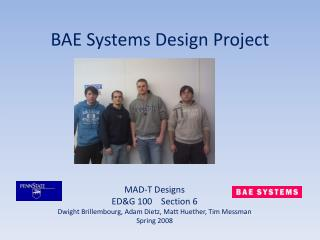 BAE Systems Design Project