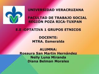 UNIVERSIDAD VERACRUZANA                 FACULTAD DE TRABAJO SOCIAL