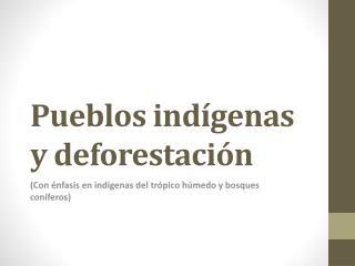 Pueblos indígenas y deforestación