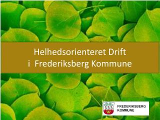 Helhedsorienteret Drift i  Frederiksberg Kommune