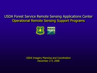 USDA Forest Service Remote Sensing Applications Center Opera
