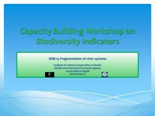 Capacity  Building Workshop on Biodiversity Indicators