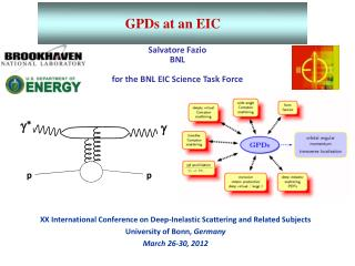 Salvatore Fazio  BNL for the BNL EIC Science Task Force