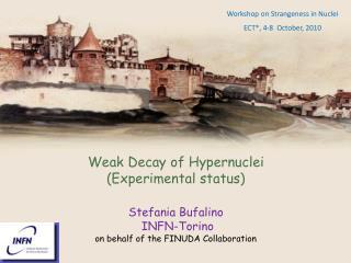 Weak Decay of  Hypernuclei (Experimental  status) Stefania Bufalino