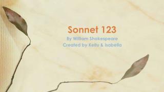 Sonnet 123