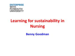 Learning for sustainability in Nursing