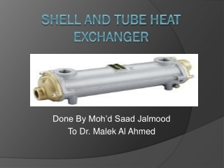 SHELL Shell  Tube Heat Exchangers