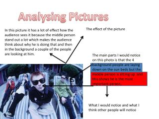 Analysing Pictures