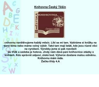 Knihovna Český T ě šín