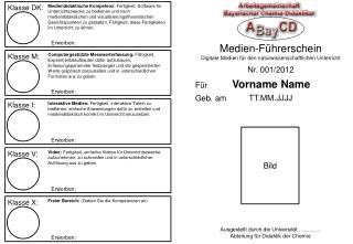 Medien-Führerschein Digitale Medien für den naturwissenschaftlichen Unterricht