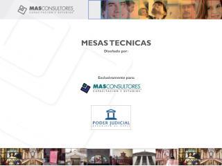 MESAS TECNICAS Diseñado por: Exclusivamente para: