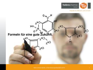 Formeln für eine gute Zukunft.