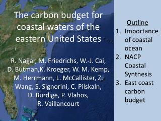 Outline Importance of coastal ocean NACP Coastal Synthesis East coast carbon budget