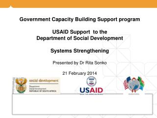 Government Capacity Building Support program USAID Support  to the