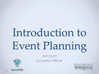 Introduction to Event Planning