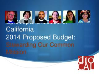 Episcopal Diocese of California 2014 Proposed Budget: