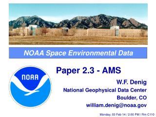 NOAA Space Environmental Data