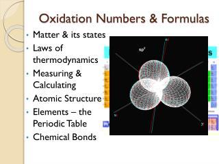 Oxidation Numbers & Formulas