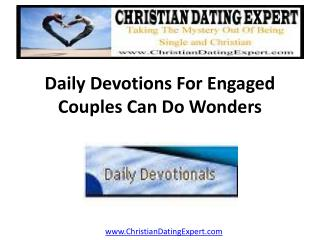 Daily Devotions For Engaged Couples