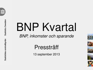 BNP Kvartal BNP, inkomster och sparande