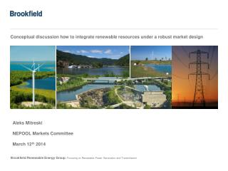 Conceptual discussion how to integrate renewable resources under a robust market design
