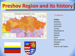 Preshov Region and its history