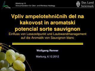Wolfgang Renner Marburg, 6.12.2012