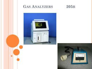 Gas Analyzers            205b
