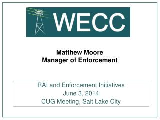 Matthew Moore Manager of Enforcement