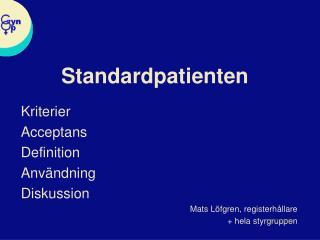 Standardpatienten