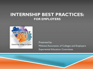 internship best practices: For Employers