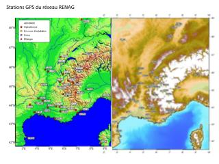 Stations GPS du réseau RENAG