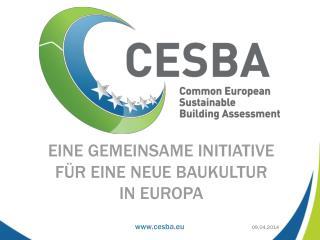 Eine gemeinsame initiative  für eine neue baukultur  in europa