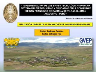 UTILIZACIÓN DIVERSA DE LA TECNOLOGÍA DE INVERNADEROS  SOLARES