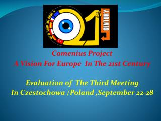 Comenius Project A Vision For Europe  In The 21st Century