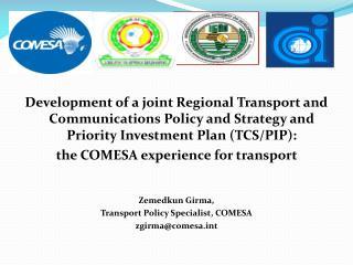 Regional Integration  Support Program (RISP)