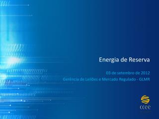 Energia de Reserva